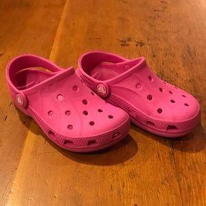 Toddler girls hot pink Crocs
